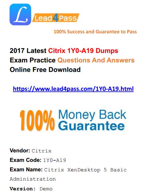 1Y0-A19 dumps